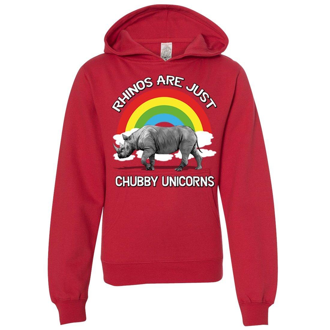 Dolphin Shirt Co Chubby Unicorn Premium Youth Sweatshirt Hoodie