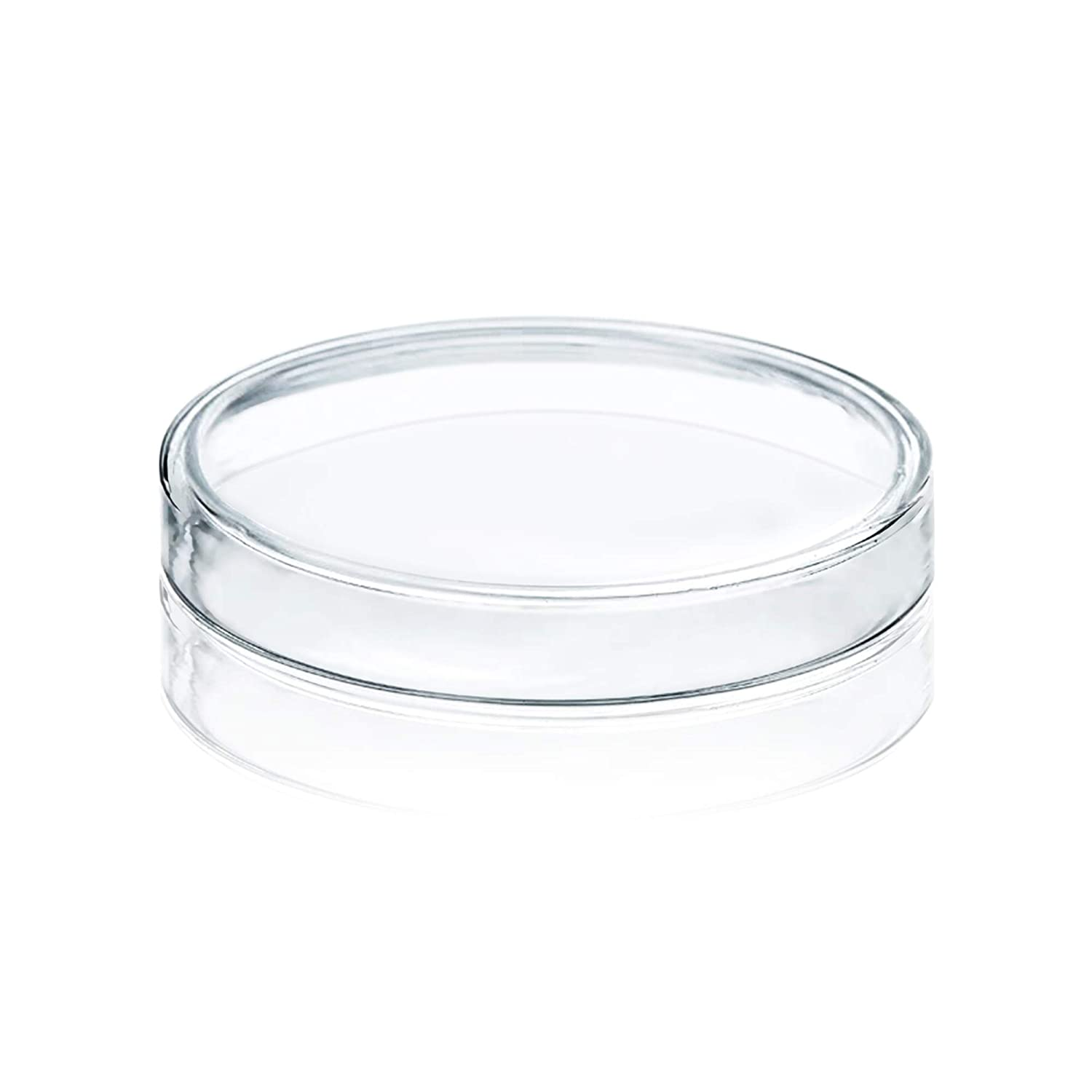 Huanyu 90mm High Borosilicate Glass Petri Dishes Bacterial Culture Dishes a Pack of 5PCS