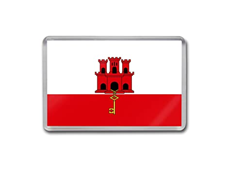 Bandiera Gibilterra Magnete Per Frigorifero Con Colori Di Alta
