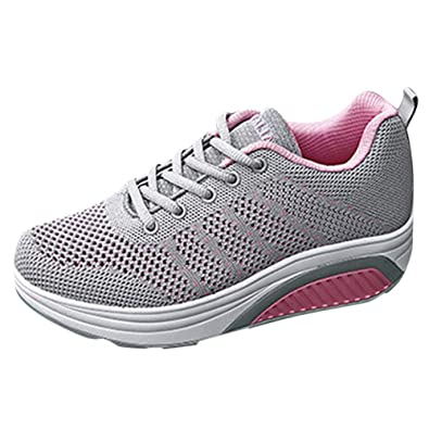 7ec2802c2674 Chaussures de Course Baskets Femme Running Homme Fitness Entraînement Air  Shoes 3 cm 36-47