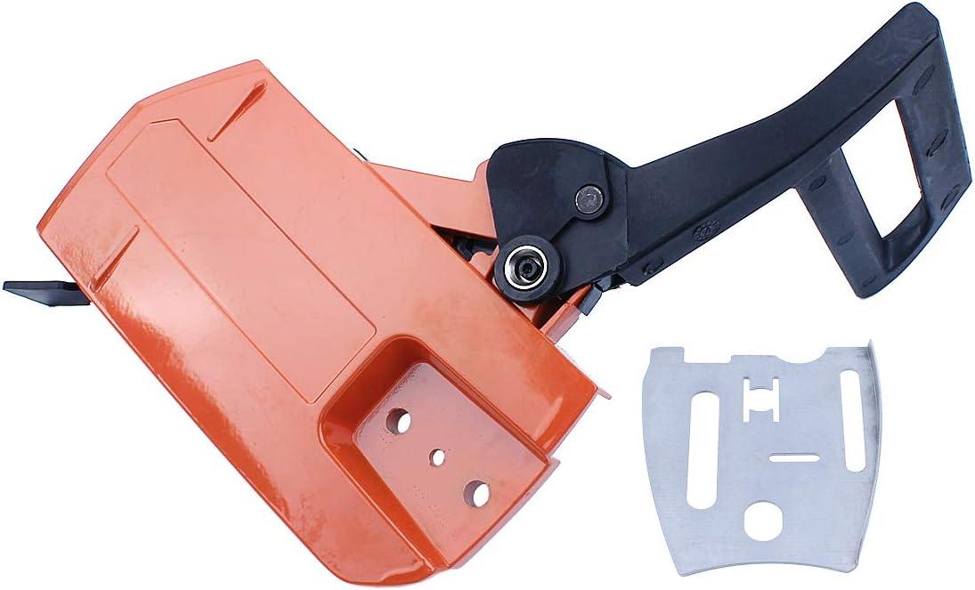 Kit de montaje del protector de la manija de la cubierta del embrague del freno de cadena Fit HUSQVARNA 61 66266268272 272XP Repuestos de motosierra 503727401