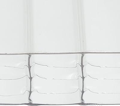 Panel de techo de policarbonato transparente de 35 mm de ancho x ...