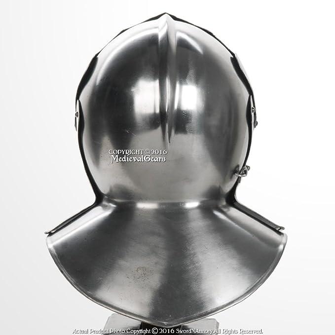 Medieval Functional Italian Sallet Sparring Helmet 16G Steel WMA SCA LARP