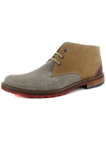 Manz Nizza-Bottes-Homme-Gris-Chaussures en Matelas Grande Taille - Gris - Gris, 47 EU