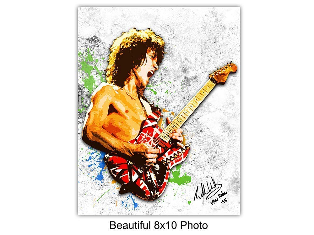 Eddie Van Halen And Guitar Wall Art Prin Buy Online In Bosnia And Herzegovina At Desertcart