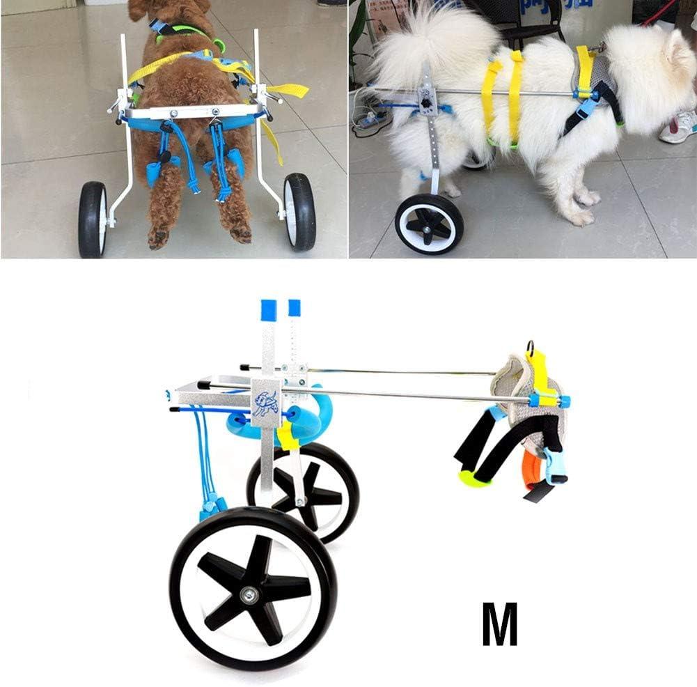 BEST WALKING Silla De Ruedas para Perros Ajustable Ortopedico Scooter para Mascotas Perro Discapacitado Patas Traseras Scooter para Ayudar A La Estabilidad De La Artritis De Discapacitado