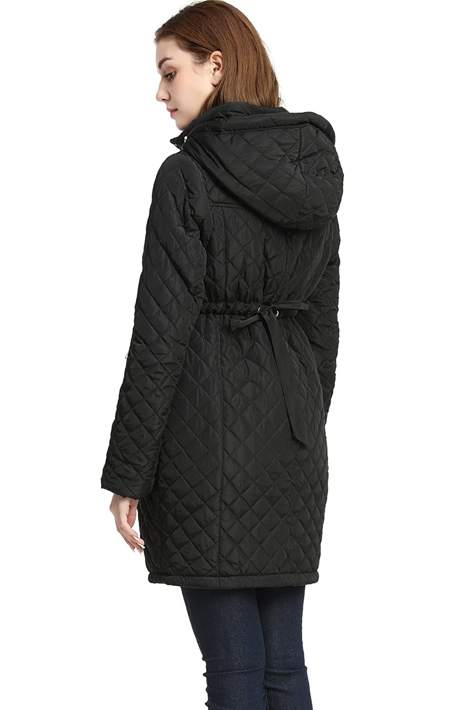 Momo Maternity Outerwear Womens Prue Quilted Parka Coat Pregnancy Winter Jacket