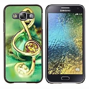 TECHCASE---Cubierta de la caja de protección para la piel dura ** Samsung Galaxy E5 E500 ** --Símbolo de música de la joyería