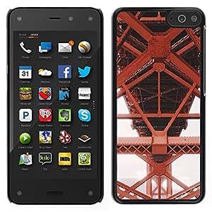 LECELL--Funda protectora / Cubierta / Piel For Amazon Fire Phone -- Hierro Rojo Estructura de construcción --