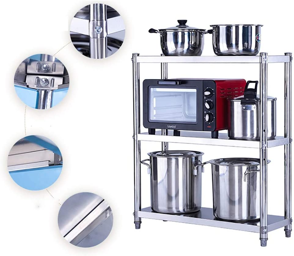 acier Petit stockage Rack de multi-usages 3 Niveau /étag/ère Rayonnage for Cuisine Salon Salle de bains Bureau Size : 35X30X80CM