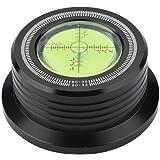 レコードスタビライザー Acouto LPビニール レコード オーディオ ディスク用 テストスピードバブルレベル ターンテーブル スタビライザークランプ 振動を除去 高品質(ブラック)