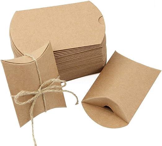 JTDEAL 50 Cajas para Regalo y 50 Cuerda de Yute(64cm), Bolsas de ...