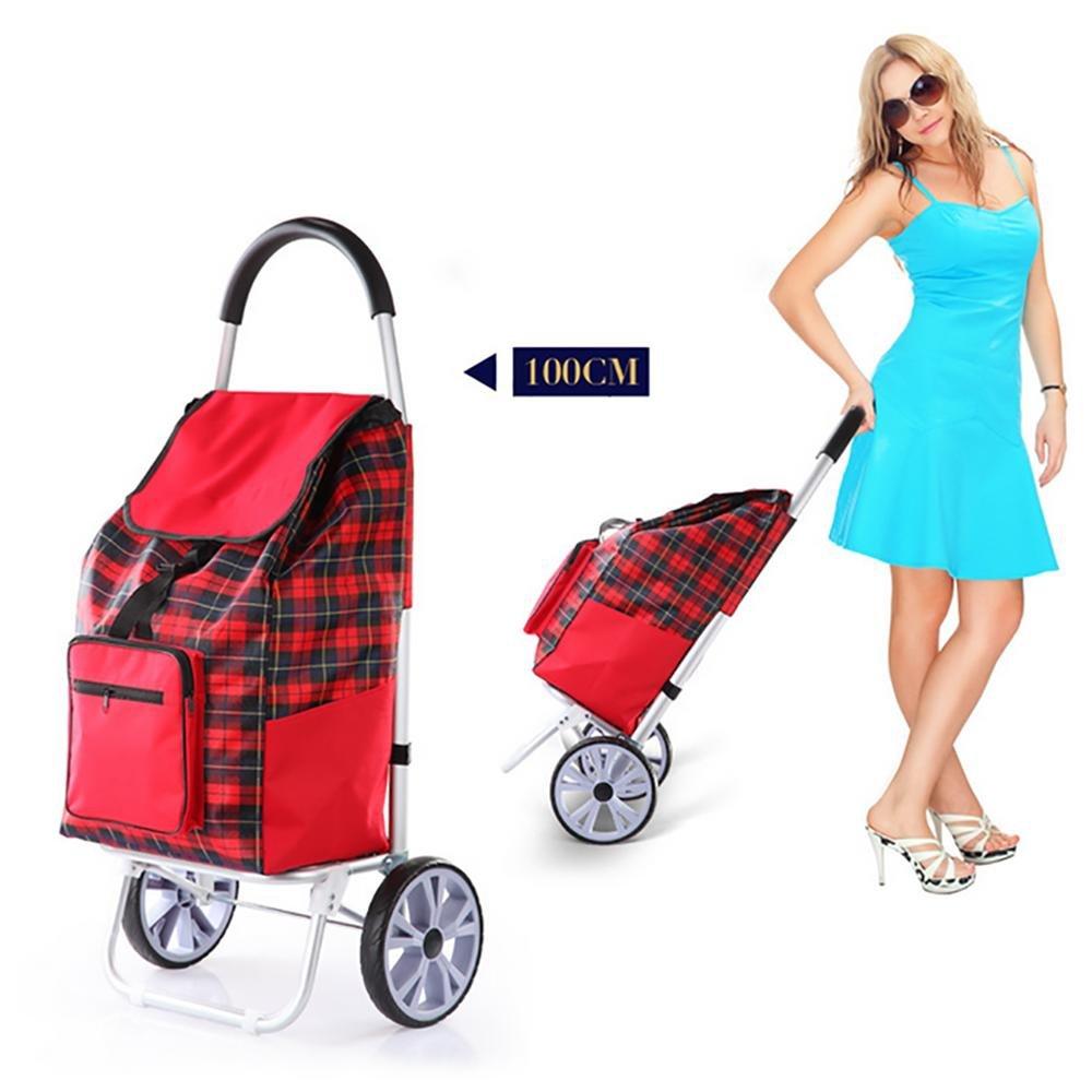 Amazon.com: HCC& Trolley Dolly Ligero Plegable Aleación de aluminio Multifunción Carrito de compras 45L , A: Home & Kitchen