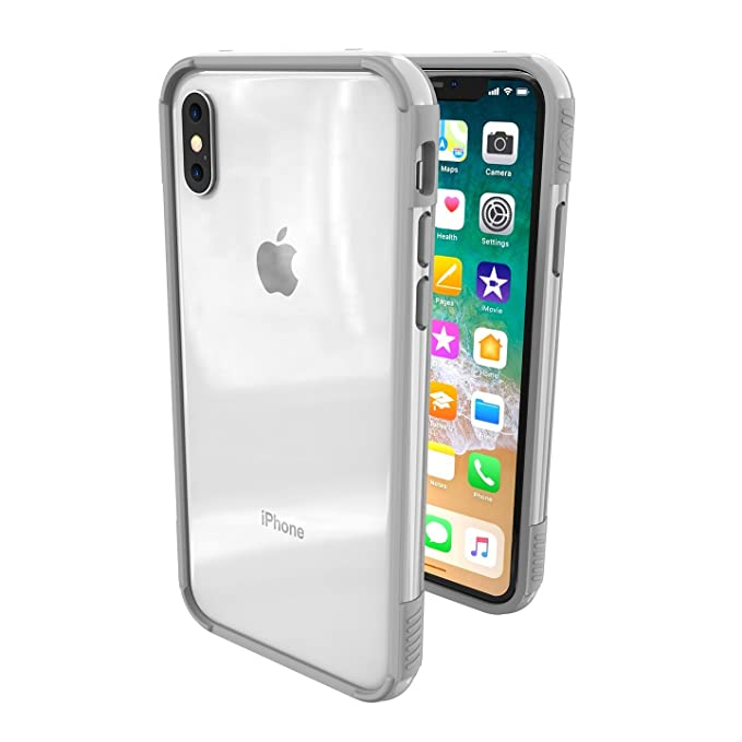 outlet store 1b144 dbf41 iPhone X Case - ThanoTech K11 Bumper - Lightweight Aluminum TPU - Matches  Your Phone Seamlessly - Slim, Durable, and Shockproof Protection - Silver
