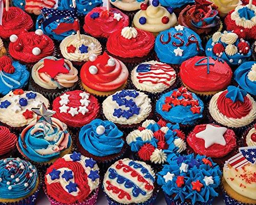 Patriotic Cupcakes Jigsaw Puzzle 1000 Piece