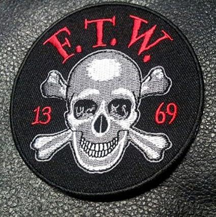 Amazon Sons Of Outlaw Ftw Skull Bones 13 69 Biker Anarchy