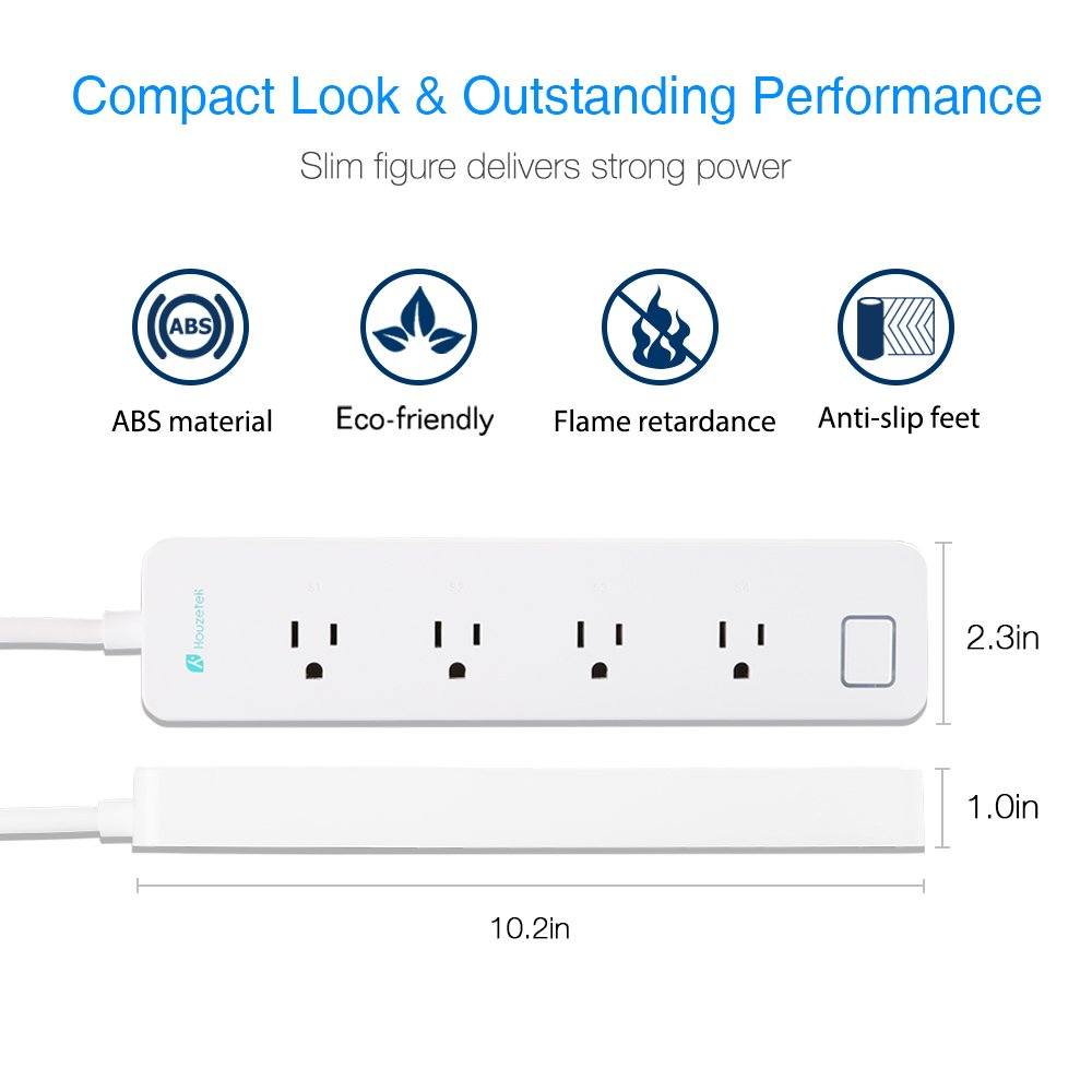 Surge Protector Wifi Smart Power Strip Socket Houzetek Outlet Google Patents On Wiring A Light Switch Off Gfci Home With 4 Outlets Work Alexa Remote Controlled