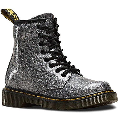Dr. Martens Kid's Collection Girl's 1460 Patent Glitter Junior Delaney Boot (Little Kid/Big Kid) Gunmetal Coated Glitter 1 M UK for $<!--$59.94-->