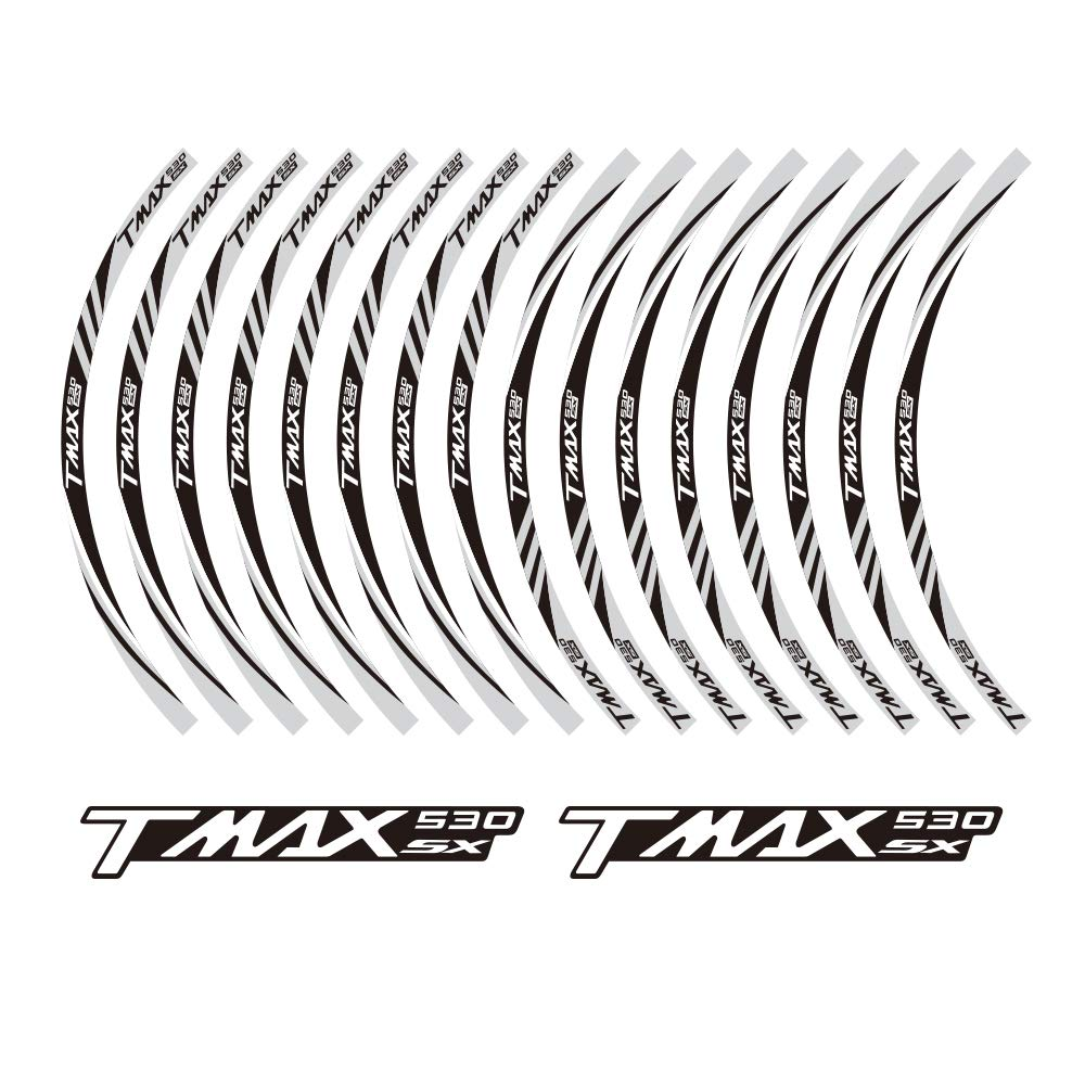 02 PRO-KODASKIN TMAX 530SX motorcycle wheel decals 12rim stickers set for TMAX 530 SX