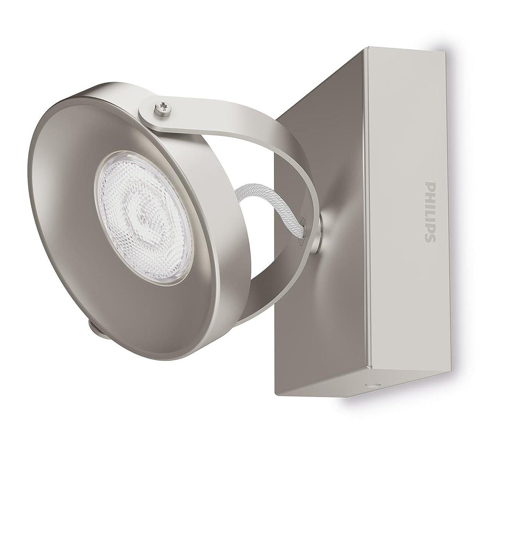 LED 1 luz luz blanca c/álida cepillado color gris iluminaci/ón interior Barra de focos Philips myLiving Spur IP20