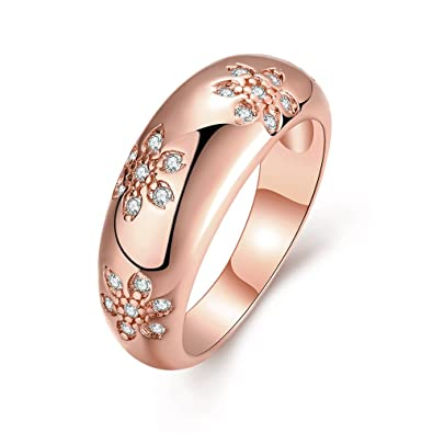 bf0e14516 Image Unavailable. Image not available for. Color: LuckyWeng Women's New  Exquisite Fashion Jewelry Rose ...