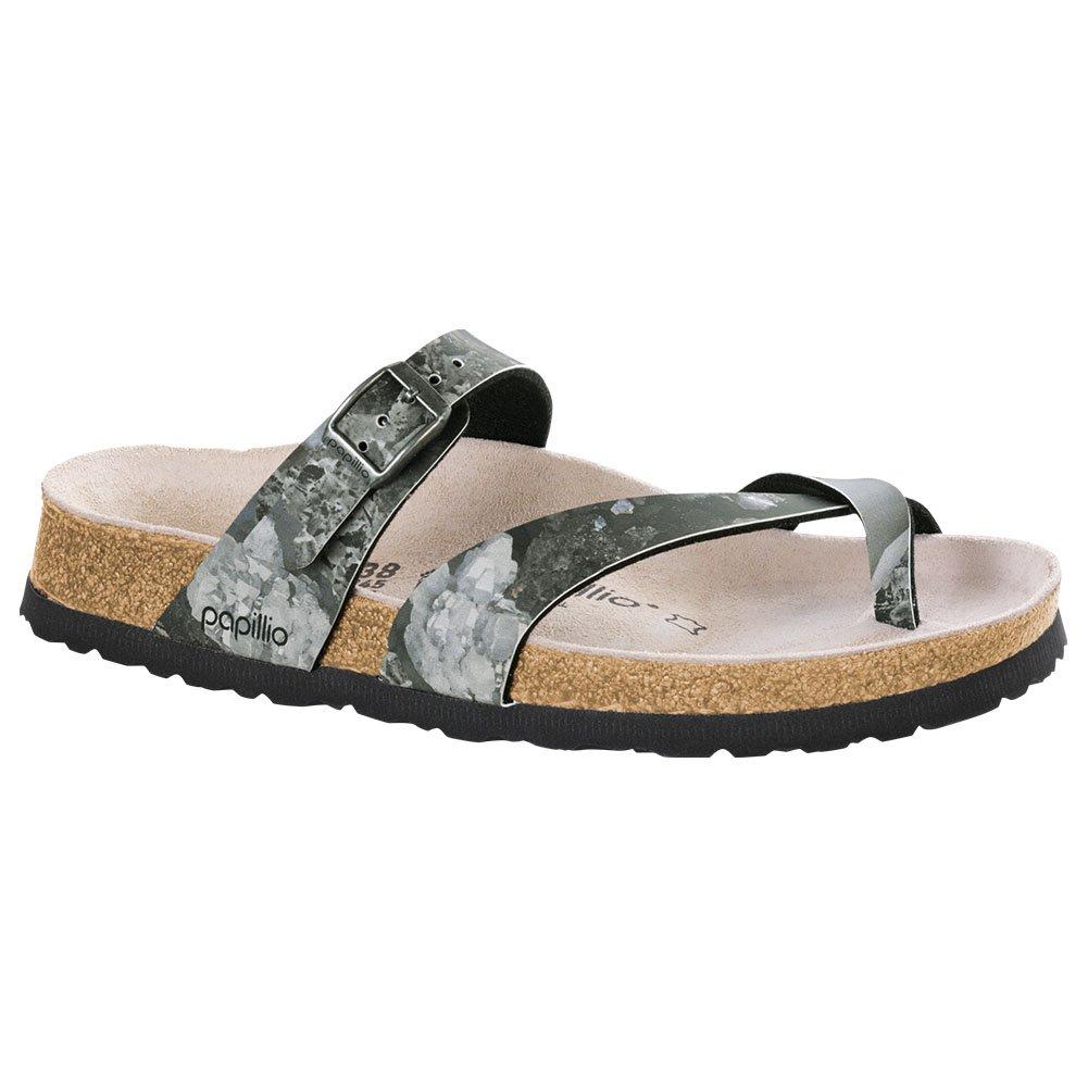 Papillio Women's Tabora Sandal Crystal Black Birko Flor Size 39 M EU