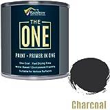 Una pintura, una capa, Multi superficie pintura para madera, metal, plástico, interior, exterior, carbón vegetal, Mate, 250ml