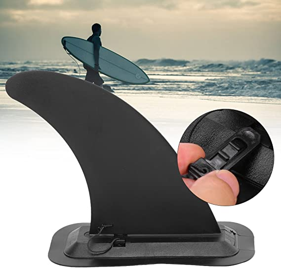 Wenxiaw Surfboard Center Fin Single Center Fin Detachable Center Fin Stand Up Paddle Board Replacement Fin Boards Fin for Inflatable SUP Surfboards Black Long Boards Paddle Board
