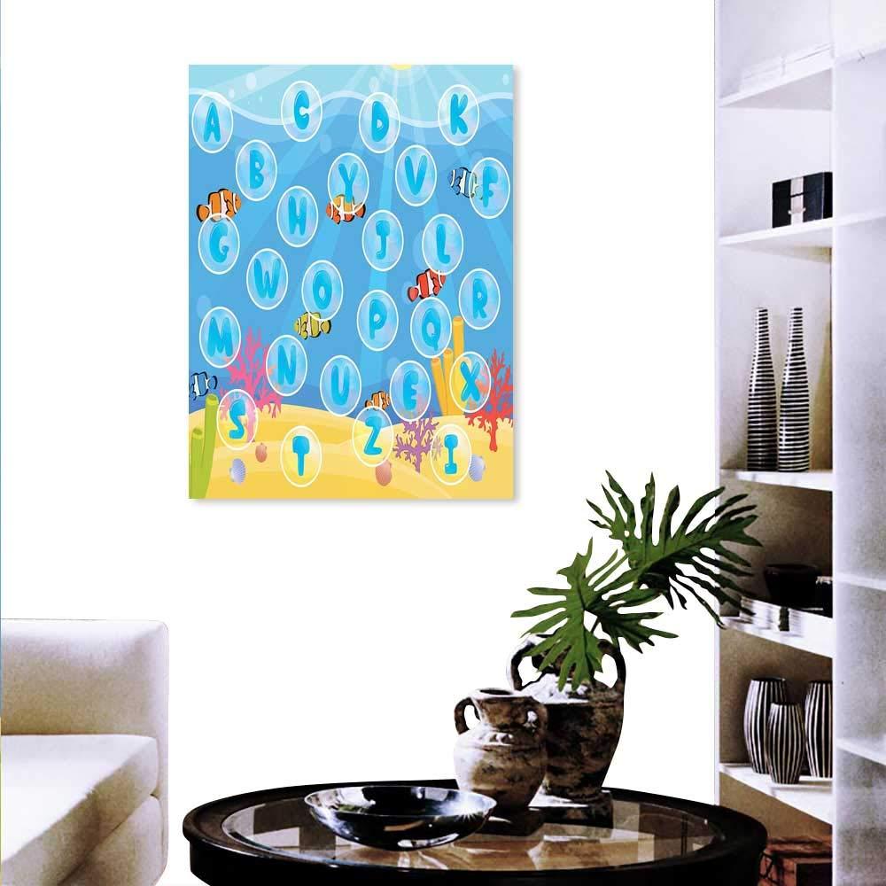 Anyangeight キッズアクティビティ モダンキャンバス絵画 ウォールアートボード ゲームスタイルデザイン 魔法の森のマッシュルームハウスへの道路 アートワーク 壁装飾 マルチカラー 20