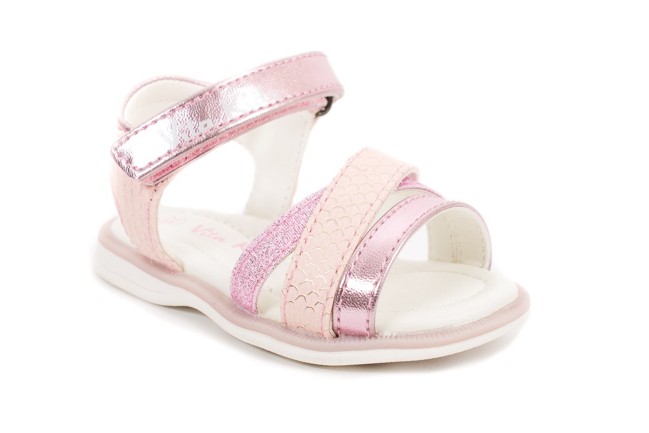 Vita Kids Summer Strappy Sandals - Shoes Girls, Lilac, 8 M US Toddler