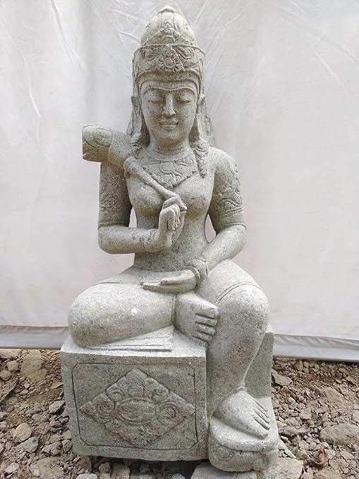 Wanda collection Estatua Grande de jardín Zen Diosa balinesa de Piedra 1 m: Amazon.es: Jardín