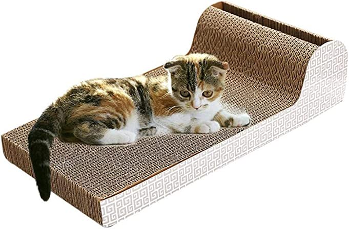 CSDY-Rascadores para Gatos, Tablero de cartón con Hierba gatera, salón de raspado de cartón Corrugado 2 en 1 Satisfacer Las Naturales Productos para Mascotas Bolas Juguetes: Amazon.es: Hogar
