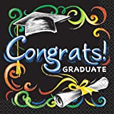 Chalkboard Graduation Beverage Napkins, 16ct