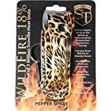 SAFETY TECHNOLOGY Wildfire 1/2 oz fashion leatherette holster and Quick Release Key Chain leopard black/orange WILDFIRE 18% PEPPER SPRAY