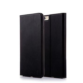 a39e133c5b7 Nouske Funda Tipo Cartera para iPhone 6 Plus y 6S Plus de 5.5 Pulgadas de  Apple, Negra: Amazon.es: Electrónica