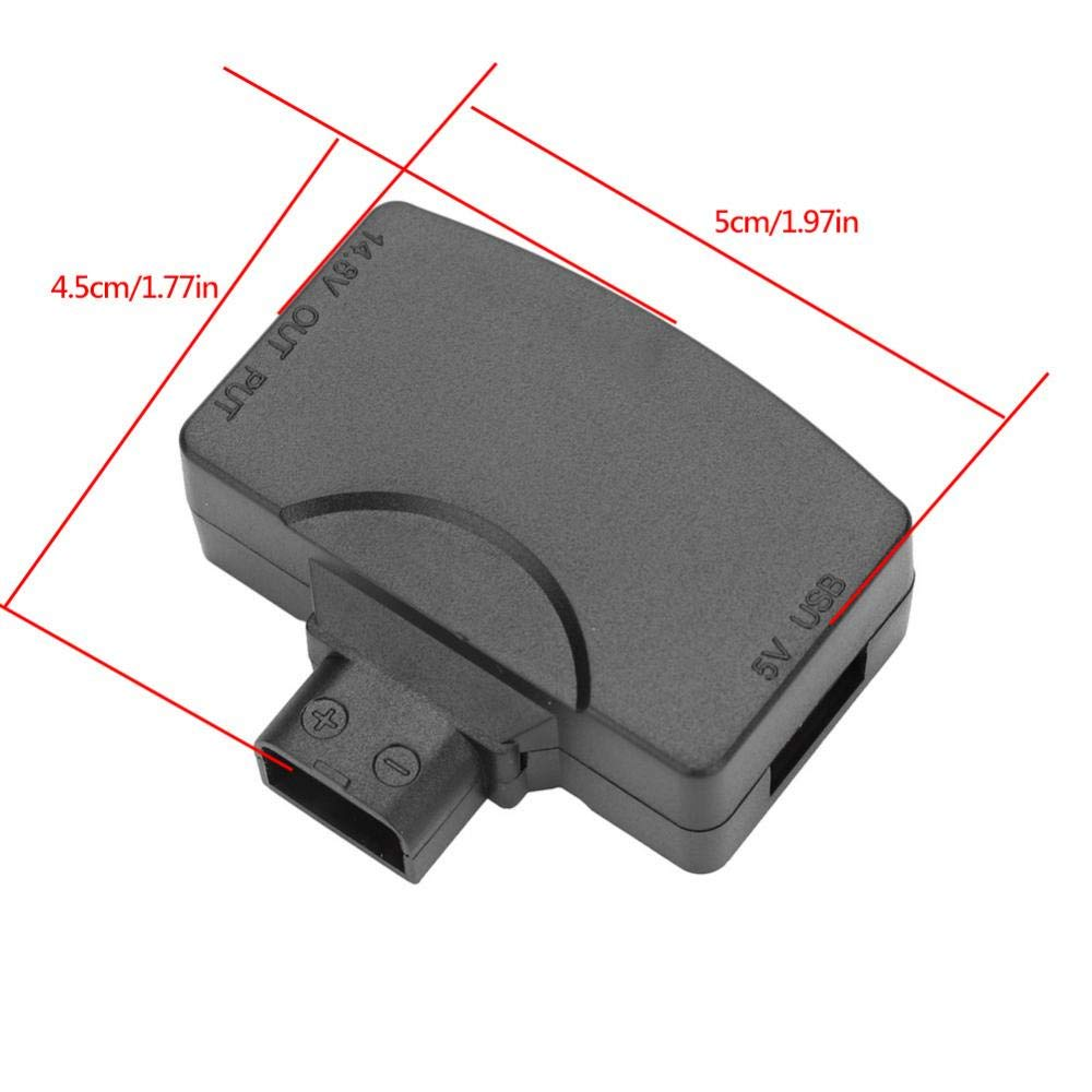 D-tap 2 Pin Male for V-Mount Battery,D-tap 2 Pin Female for Monitors,BMCC Exliy 5V 1.6A D-Tap to USB Converter Adapter