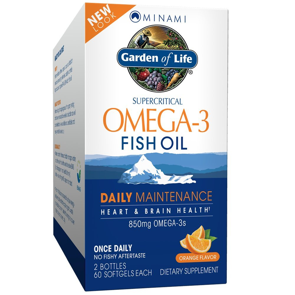 Garden of Life EPA/DHA Omega 3 Fish Oil - Minami Natural Brain Function, Heart and Mood Supplement, 2 Pack 60 CT by Garden of Life