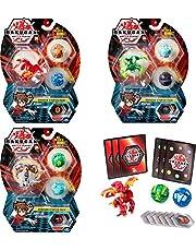 Bakugan 6045144 Startpaket med 3 Figurer, Flerfärgad