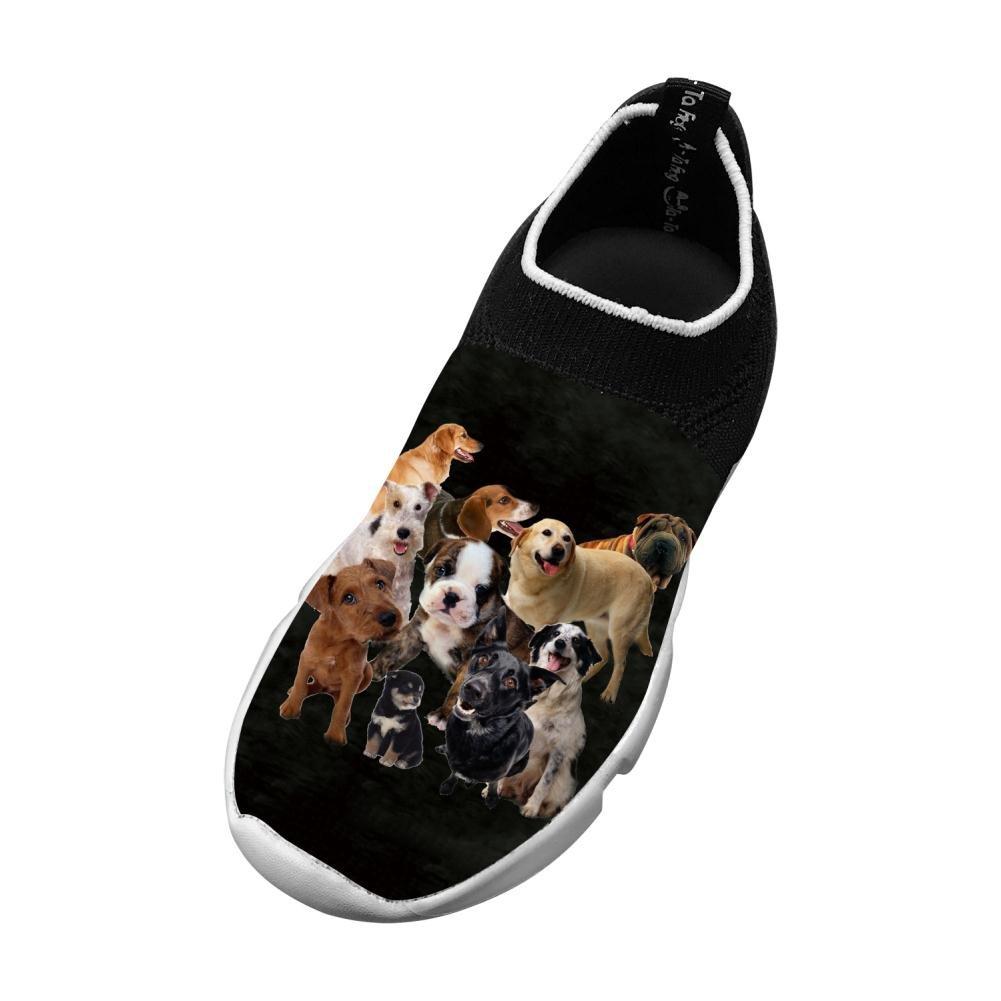 New Trendy Flywire Weaving Sneaker 3D Make Custom With Boston Terrier For Unisex Child