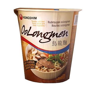 Nong Shim Oolongmen Carne Sabor sopa de fideos - 12 Copas