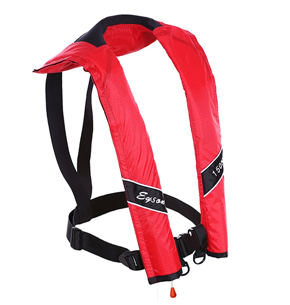 Eyson Slim Inflatable PFD Life Jacket Life Vest Adult Automatic (Red)