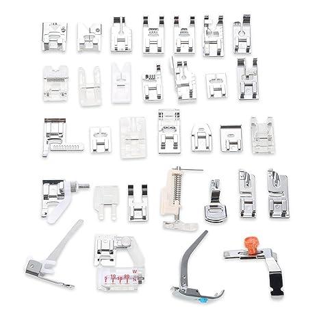 32 piezas para máquina de coser Ruffler pies prensatelas de fijación para low-shank máquinas
