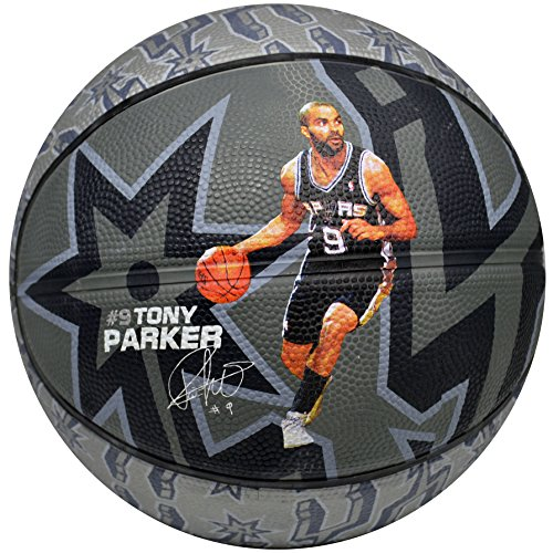 Spalding NBA San Antonio Spurs Tony Parker Team Colors And Logo Mini Basketball