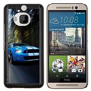 Qstar Arte & diseño plástico duro Fundas Cover Cubre Hard Case Cover para HTC One M9Plus M9+ M9 Plus (Cobra Mustang Gt500 coche)