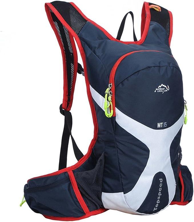 West ciclismo Mochila de ciclismo de mochilas mochila para bicicletas de montaña bicicletas de carretera bolsas senderismo Camping Daypacks para la celebración de hidratación bolsa, Unisex, azul oscuro: Amazon.es: Deportes y aire