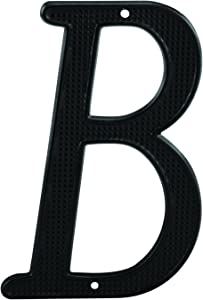 "Prime-Line MP4107 House Address Letter ""B"", Black Finish, Zinc Die Cast, 4 in. (Pack of 2)"