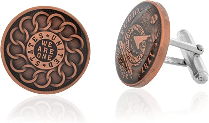 Rittenhouse Franklin Fugio Cent Coin Cufflinks Men Jewelry ...