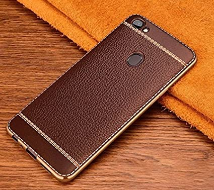 online retailer df221 d72a2 Loxxo Back Cover for Oppo F5 Leather Case Cover Anti-Scratch Cover with  Ultimate Drop & Screen Protection Mobile Cover for Oppo F5 (Brown)