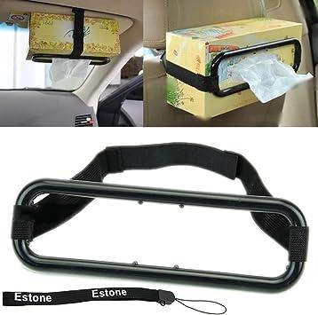 Sun Visor Seat Back Tissue Box Holder Paper Napkin Clip Bracket Car Accessories