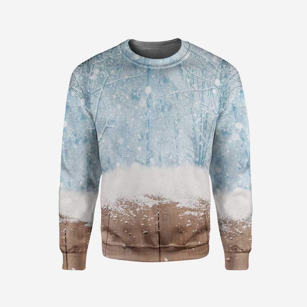 iPrint Men's Crewneck Valentine Pullover Sweater